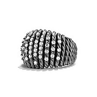 David Yurman - Tempo Ring with Diamonds - Saks Fifth Avenue Mobile