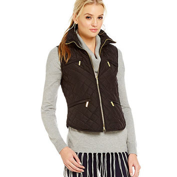 Michael Michael Kors Shirttail Quilted Puffer Vest | Dillards