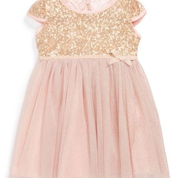 Infant Girl's Dorissa Tulle Sequin Dress