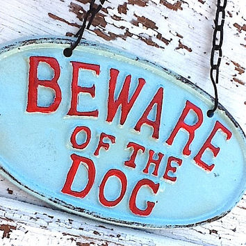 Puppy Sign  Shabby Cast Iron Vintage Inspired by CamillaCotton