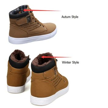 Men Boots British Style Casual High Top Shoes