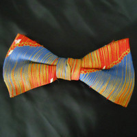 Vintage Bow Tie - 1950s LOUD Clip on Bow Tie for Men - Royal Rust Resistant