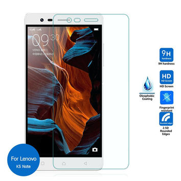 2pcs/lot For Lenovo Vibe K5 Note Real 9H 2.5D 0.26mm New Tempered Glass Screen Protector Film for For Lenovo Vibe K5 Note