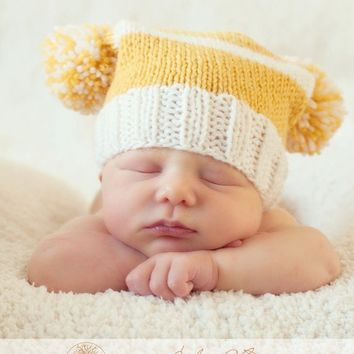 Baby Boy Hats Knit Newborn Hat Newborn Hats Knit by knoodleknits