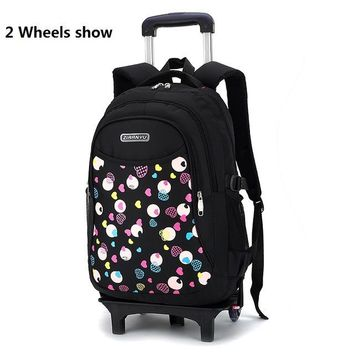 School Backpack New Girl Backpack for School Randoseru the School Bag Trolley Mochila Escolar Com Rodinha Printing Girls Schoolbags Bookbag AT_48_3