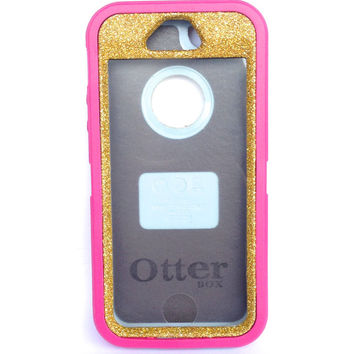 OtterBox Defender Series Case iPhone 5s Glitter Cute Sparkly Bling Defender Series Custom Case Peony Pink/Gold