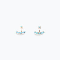 Colored anchor earrings