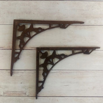 Brackets/ Shelf Brackets/ Art Deco Brackets/ Victorian Cast Iron Brackets/ Cast Iron Brackets/ Art Nouveau Architectural Salvage