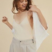Out From Under Ribbed V-Neck Bodysuit | Urban Outfitters