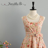My Lady - Pale Pink Floral Dress Spring Summer Sundress Pink Floral Bridesmaid Dresses Sweet Pink Floral Dress Floral Party Prom Dress XS-XL
