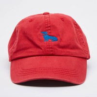 Red Dachshund Logo Baseball Cap - Mookie