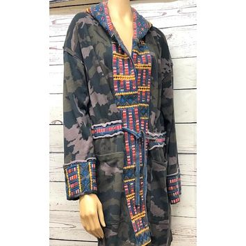 Johnny Was Tia Hooded Anorak Coat~ Moonlight Camo
