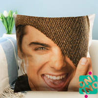 Zac Efron Smile Zippered Pillow Case, Cushion Case, Pillow case