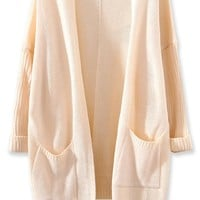 All-Matching Solid Knit Cardigan - OASAP.com