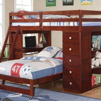 Jacob Bunk Bed with Desk, Dresser, and Bookcase