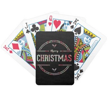 Merry Christmas Greeting Bicycle Playing Cards