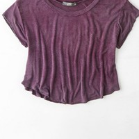 AEO Women's Don't Ask Why Swingy Cropped Tee