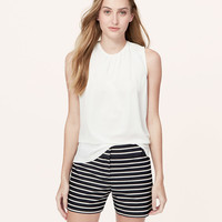Striped Denim Riviera Shorts with 4 Inch Inseam | LOFT