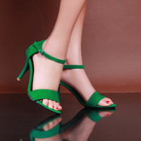 Ankle Strap High Heels Sandals Stiletto Heel 2534