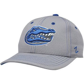 Zephyr Florida Gators Overcast Fitted Hat - Gray