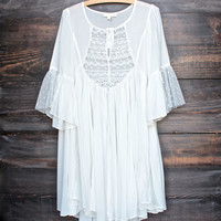 FINAL SALE - dreamy lace peasant dress - ivory