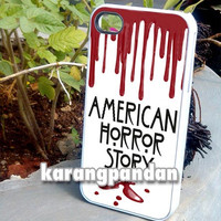 American Horror Story - iPhone 4 4s 5 5c 5s Case Samsung Galaxy S2 S3 S4 S5 Case Blackberry z10 Case iPod 4 5 Case - Black or White