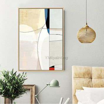 Original Geometric Nordic Modern abstract on Canvas large acrylic Painting Wall Art Pictures for living room home cuadros quadros decoracion