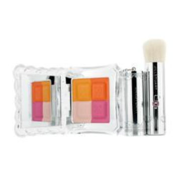 Jill Stuart Mix Blush Compact N (4 Color Blush Compact + Brush) - # 04 Candy Orange --8g-0.28oz By
