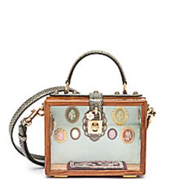 Dolce & Gabbana - Shadow Box Wood, Plexiglass & Ayers Top-Handle Bag - Saks Fifth Avenue Mobile