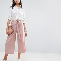 ASOS Linen Culotte Pants at asos.com