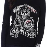 Sons Of Anarchy Girls Long Sleeve T-Shirt - Inner Mayan