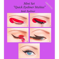 Quick Eyeliner Stickies Stickers Eye Makeup Tool STARTER SET 24 Pcs [9305839943]