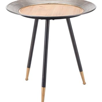 Industrial Chic Round Metal Side / Tray Table