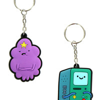 LUMPY SPACE PRINCESS AND BMO KEYCHAINS