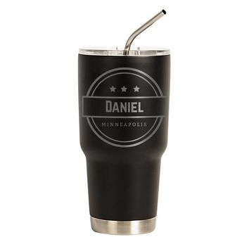 Personalized 30 oz. Groomsmen Stainless Steel Double-Walled Tumbler