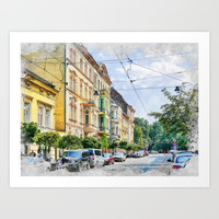 Cracow art 16 #cracow #krakow #city Art Print by jbjart