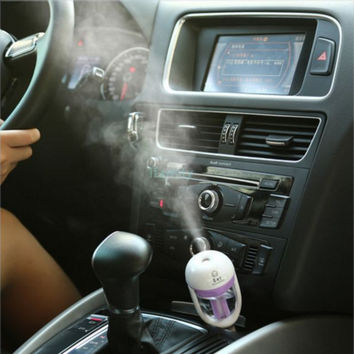 Aromatherapy For Your Car - Portable Cool Mist Ultrasonic Humidifier with Aroma Diffuser +Top Quality Gift
