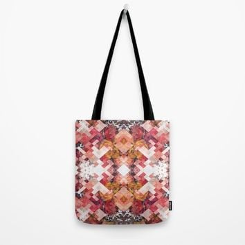 Roses under ice Tote Bag by Jeanette Rietz