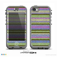 The Colorful Knit Pattern Skin for the iPhone 5c nüüd LifeProof Case