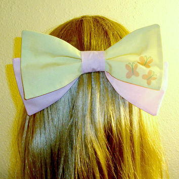 Fluttershy Hair Bow Tie My Little Pony Cutie Mark Barrette