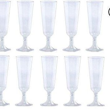 Plastic Classicware Glass Like Champagne Wedding Parties Toasting Flutes 1 Box = Quantity 70