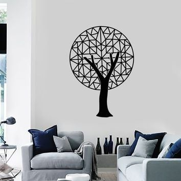 Vinyl Wall Decal Polygonal Tree Abstract Room Decor Art Stickers Mural (ig5397)