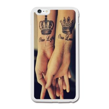 Love Qutoe Series One Life One Love Forever Tattoo iPhone 6 Plus Rubber Case (5.5 Inch) - Rubber Personalized iPhone 6 Plus Cases (5.5 Inch)