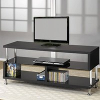 Contemporary Black Finish TV Stand By Coaster Furniture