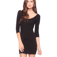 Essential 3/4 Slv Bodycon Dress