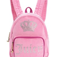 Juicy Crown Velour Mini Backpack by Juicy Couture