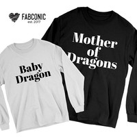 Mother and Baby Sweatshirt, Baby Dragon Sweatshirt, Mother and Baby Dragon Sweatshirts, Matching mother baby sweatshirts