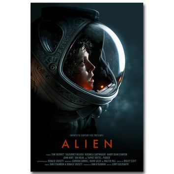 Alien Art Silk Poster Print 13x20 24x36inch Classic Science Fiction Movie Picture for Living Room Wall Decoration 016