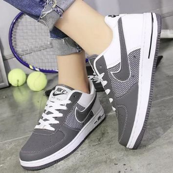 NIKE Running Sport Casual Shoes Women Men Sneakers Low tops shoes Grey