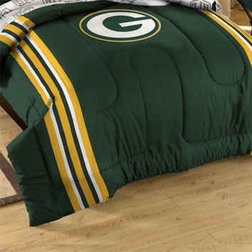 NFL Green Bay Packers Football Twin-Full Bed Comforter Set